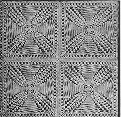 Windmill Bedspread crochet pattern originally published in Bedspreads, Spool Cotton Co. #85.