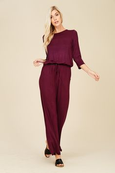 0dc74ec61c2 Jumpsuit with Elastic Waist Style  J8057 Knit jumpsuit featuring solid