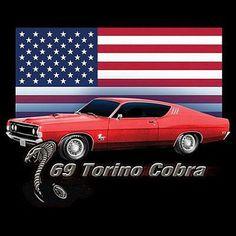 Ford 1969 Gran Torino Cobra Car Mens T Shirt 11001D2