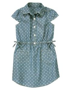 Dot Chambray Shirt Dress