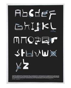 CHAIR ALPHABET: TYPESEAT PRINT BY TIM FISHLOCK
