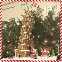 Leaning Tower of Pisa gingerbread house - Peddler's Village New Hope PA