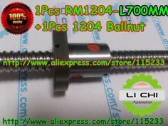 62.00$  Buy now - http://ali9ua.worldwells.pw/go.php?t=659900932 - Top best price 1pcs Ball screw SFU1204 - L700mm+ 1pcs RM1204 Ballscrew Ballnut for CNC and BK10 / BF10 standard processing