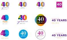 40th Anniversary designs for a local non-profit.