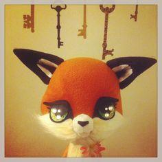 Plush Taxidermy Fox by Stitch of Whimsy