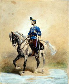 Hussar officer, by Edouard Detaille