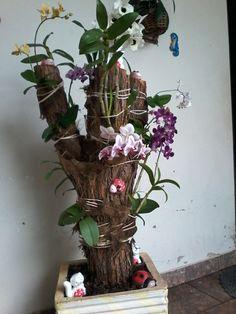Toco com orquídeas