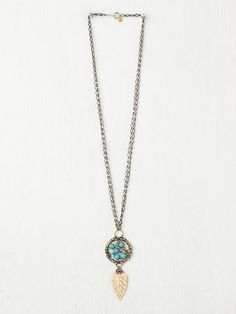 Free People Turquoise Dream Catcher Pendant