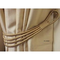Modern and elegant curtain tieback