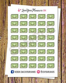LoveYourPlanners: money in money out, 40 stickers, $4.02