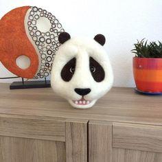 #artwork #arttoy #needlefelted #filz #felt #panda #trophy
