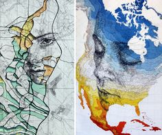 14 maps and charts turned into beautiful portraits by Ed Fairburn