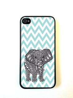 Tiffany Blue Chevron Elephant iPhone 5c Case - For iPhone 5c - Designer TPU Case Verizon AT&T Sprint -- [ Pre ORDER - Ships Sept 25 ] on Etsy, $12.98