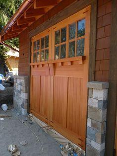 wooden carriage style garage door the garage journal board how cool would barn doors