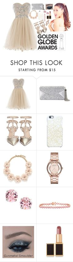 """""""Ariana Grande"""" by dinyvia on Polyvore featuring BCBGMAXAZRIA, Valentino, Uncommon, J.Crew, Marc by Marc Jacobs, L. Erickson, Gioelli Designs, Tom Ford, GoldenGlobes and goldenglobefashion"""