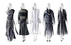 Fashion Portfolio - fashion design drawings; lineup illustrations; developing a fashion collection // Karen Yao
