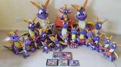 Entire Classic Spyro the Dragon Plush Collection by frozendragonflames on…
