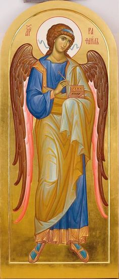 The Holy Archangel Raphael. Religious Images, Religious Icons, Religious Art, Byzantine Icons, Byzantine Art, Catholic Archangels, St Raphael, Angel Images, Angels In Heaven