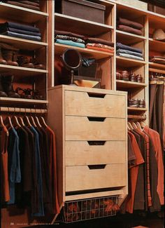 Wish we could utilize our master closet space better like this.