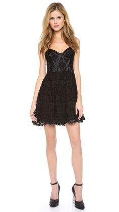 Jill Jill Stuart Lace Bustier Dress