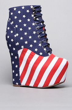 The Damsel Shoe in Stars and Stripes