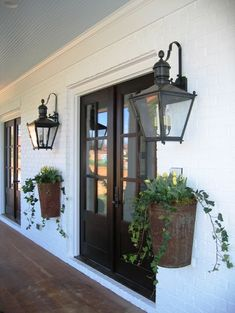 mounted Planters on the porch
