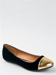 Qupid SAVANA-149X Cap Toe Ballet Flat | Shop Qupid Shoes $18