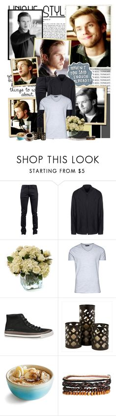 """Luke Parker - 5.21 ""Promised Land"""" by noseinanovel ❤ liked on Polyvore featuring Naked & Famous, Alexander Wang, Distinctive Designs, Jack & Jones, Calvin Klein Jeans, IMAX Corporation and ASOS"