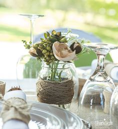 Create These Diy Vases With Mason Jars And Binder Twine Are Perfect Decorations For Your Rustic Wedding Reception Or Any Other