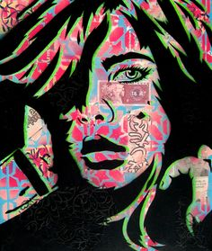 "PaperMonster's Sexy Stencil Art (6 total) - My Modern Metropolis. PaperMonster is a stencil graffiti artist who spends hours adding layers and textures to his paintings. Inspired by women who are complex and unique, his collages are stories of ""women who make their own path in life yet are unstoppable no matter the hurdles they face."""