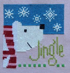 completed cross stitch Lizzie Kate Christmas Jingle