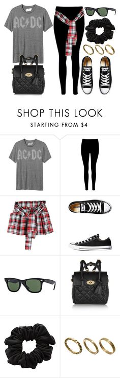 """""""Style #10469"""" by vany-alvarado ❤ liked on Polyvore featuring Old Navy, Converse, Ray-Ban, Mulberry, American Apparel and Made"""