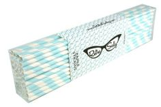 """Paper Straws 10"""" - Pack of 50 Light Blue Stripe by Retro Sally by Retro Sally. $11.95. 100% Food Safe Ink. 50 Per Pack. Paper Straw for Drinking. 100% Biodegradable. 10"""" Long. Paper Straws by Retro Sally are top tier in quality. These straws are made from 100% food grade ink. They are 100% biodegradable. And people say they are 100% awesome. They have been tested in many liquids (water, pop, milk, milkshake, energy drinks, adult beverages) and last longer than any other ..."""
