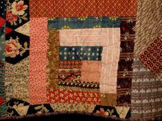 1870s log cabin quilt