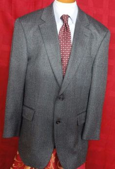 Jos A Bank Silk Blend Multi color Herringbone Sport Coat Size 42R #JosABank #TwoButton