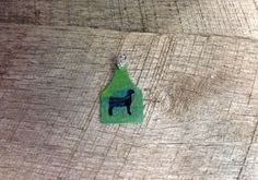 Green and blue sparkles ear tag pendant with black goat silhouette. Comes with rhinestone pinch bail. Repin to be entered to win one of four $50 gift certificates during our Five Year Anniversary Celebration in July 2014.