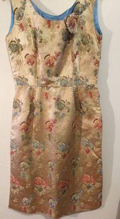 9f90d733926a Vintage 1960 s women Size S Gold Chinese Silk Brocade Wiggle dress Silk  Brocade