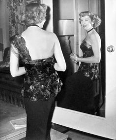 """Ida Lupino during filming of """"Road House"""" (1948)"""