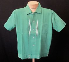 1950's NOS M Knit Kelly Green Cotton Short by LoungeActVintage, $98.00
