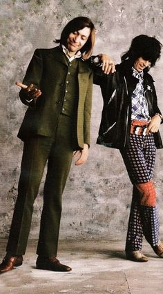 Charlie Watts and Keith Richards, 1970. Photo by Peter Webb, from the Sticky Fingers session.