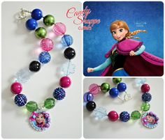 Anna Frozen Chunky Necklace Girls Chunky by CandyShoppeCuties, $23.00