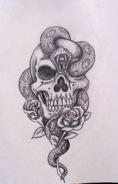 Resultado de imagen para dibujos de serpientes con calaveras