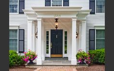 Federal Colonial portico - really like