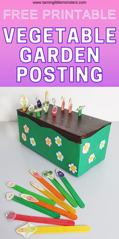 Vegetable Garden Posting - Free Printable Activity for Kids
