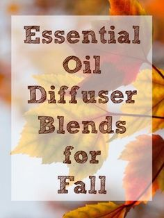 These essential oil blends are perfect for fall & making your home smell amazing. Try out a few, and discover your home's signature fall scent.