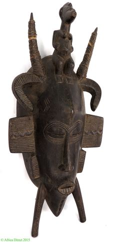 Senufo Kpelie Mask with Figure on Cote D'Ivoire Top Africa - Senufo - African Masks