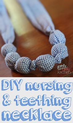 Little Bitty Kitchen: DIY Nursing & Teething Necklace #nursingnecklace #diy #homemade