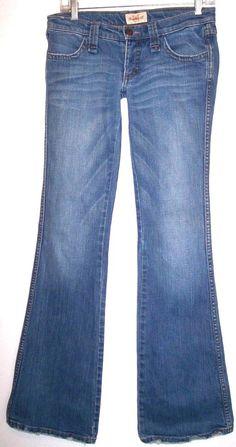 Frankie B Jeans 4 Slim Boot Stretch Denim Sexy Low Rise Distressed Pants 28x33.5 #FrankieB #BootCutFlare