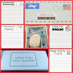 Letters to My Future Self-This end of the year writing activity is an amazing way to wrap up the school year! Students will write a series of letters to their future self and keep the letters sealed in an envelope book! $