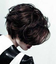 11.Dark Short Hair Color